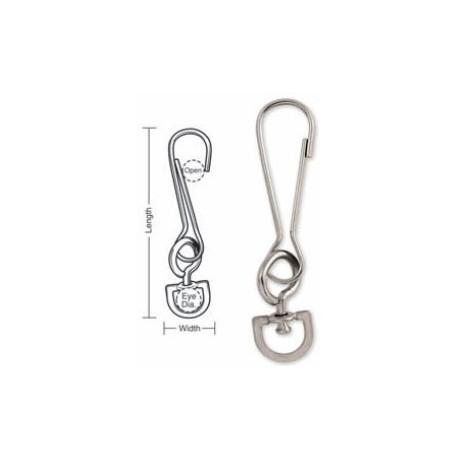 A665 Tough Links Light Duty Snap Hooks, D-Swivel