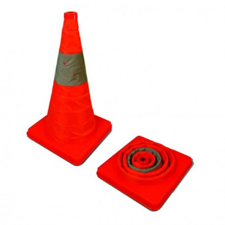 Lucky Line 87800 Collapse-A-Cone Collapsible Traffic Safety Cone with Carrying Case
