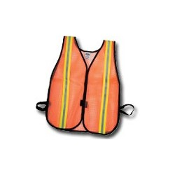Mutual Industries Non-ANSI High-Visibility Reflective Heavy Weight Safety Vest - Lime/Silver/Lime