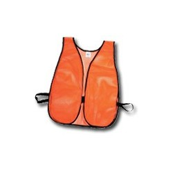 Mutual Industries Non-ANSI High Visibility Soft Mesh Safety Vest - Plain