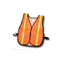 "Mutual Industries Non-ANSI High Visibility Soft Mesh Safety Vest - 1"" Lime Reflective Stripe"