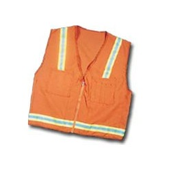 Mutual Industries Surveyor Safety Vest - Lime/Silver/Lime Reflective Stripe