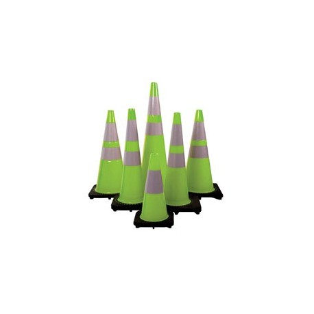Mutual Industries 17716 High Quality Lime Green Traffic Cones - Multiple Sizes Available