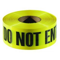 "Do Not Enter, Cuidado, Danger, Peligro 3"" x 300' Customizable Caution Tape"