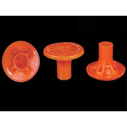 CS Orange OSHA Rebar Caps