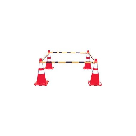 Mutual Industries 17727 Retractable Cone Bar Traffic Safety Barricade
