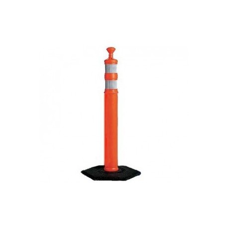 Mutual Industries 17724 Road Safety Channelizer Traffic Delineator 12lb Base