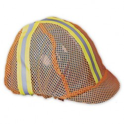 Mutual Industries 13500-100 Orange Mesh Reflective Construction Hard Hat / Helmet Cover