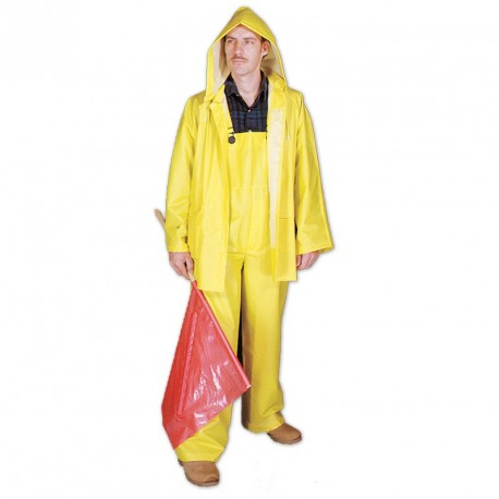Mutual Industries 14505 3 Piece .35mm PVC Polyester Raincoat Waterproof Suit