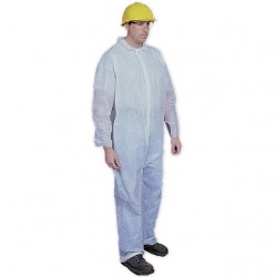 Mutual Industries 13900 Disposable White Cleanroom Coverall
