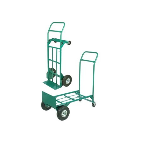 Mutual Industries 2-in-1 Two-Wheeler Hand Truck Converts into Platform Truck