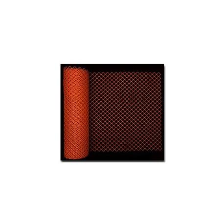 Mutual Industries 14988 High Density Polyethylene Diamond Link Safety Fence 4' X 50'