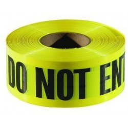 "Do Not Enter, Cuidado, Danger, Peligro 3"" x 1000' Customizable Caution Tape"