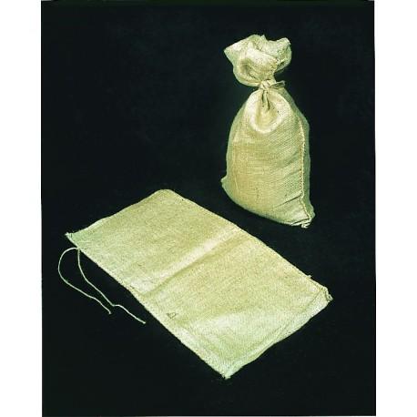 Mutual Industries 14974-14 10oz Burlap Sand Bags with Jute Drawstring