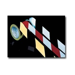 "Super Tough Hazard Stripe Tape 4"" Width"