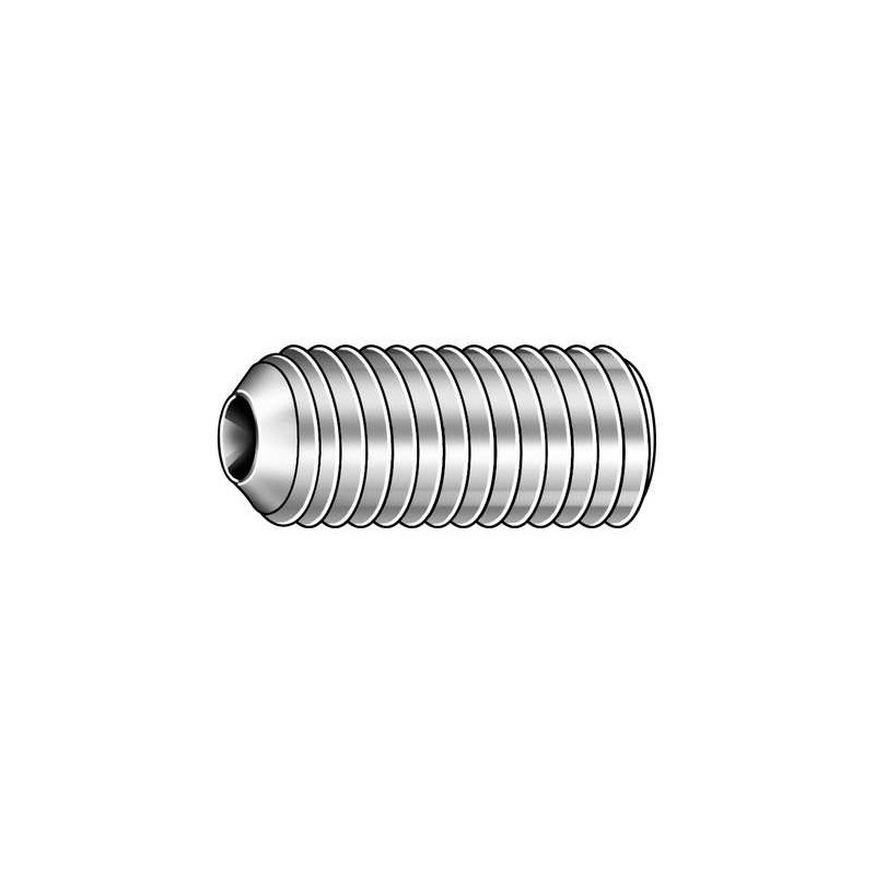 4 40 X 1 8 Socket Set Screw Cup Point Stainless Steel