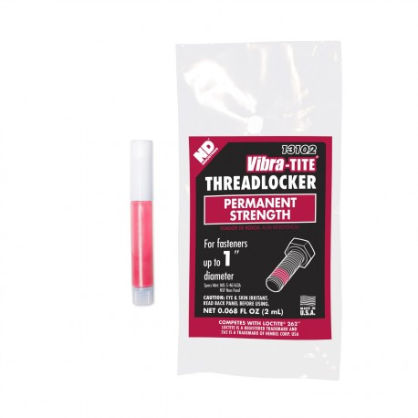 Vibra-Tite 13102 Threadlocker Permanent Strength 2 mL