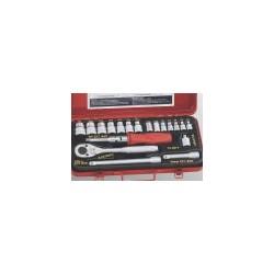 "Genius Tools TX-2319 19PC 1/4 & 3/8"" Dr. Star Hand Socket Set"