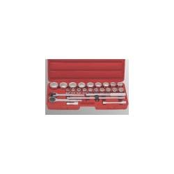 "Genius Tools TW-625S 25PC 3/4"" Dr. SAE Hand Socket Set"