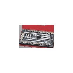 "Genius Tools TW-446MS 46PC 1/2"" Dr. 12-pt. Metric & SAE Hand Socket Set"