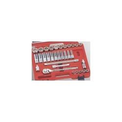 "Genius Tools TW-432S 32PC 1/2"" Dr. SAE Hand Socket Set"