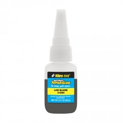 Vibra-Tite 31820 Cyanoacrylate Low Odor & Low Bloom Black - Toughened 20 gm