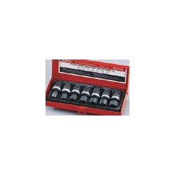 "Genius Tools TG-213M1 7PC 3/8"" Dr. Metric Swivel Impact Socket Set"