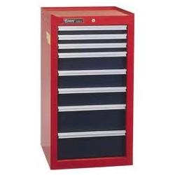 "Genius Tools TS-748 8 Drawer Side Cabinet 18"" x 18-3/4"" x 37-1/16"""