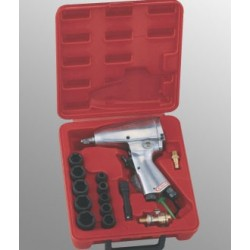 "Genius Tools TG-316M1 16PC 3/8"" Dr. Metric Impact Wrench Set, 160 ft-lb"