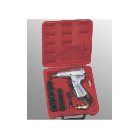 "Genius Tools TG-316M1 16PC 3/8"" Dr. Metric Impact Wrench Set, 160 ft-lb"