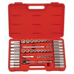 "Genius Tools GS-347MS 47PC 3/8"" Dr. SAE & Metric Hand Socket Set"