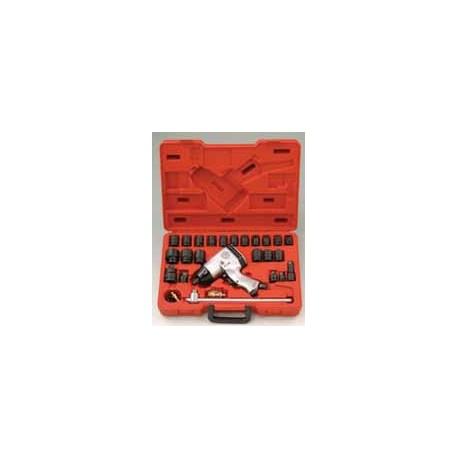 "Genius Tools GS-425KS 26PC 1/2"" Dr. SAE Standard duty Impact wrench kit"