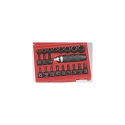 "Genius Tools ID-321M 21PC 3/8"" Dr. Metric Impact Driver Set"
