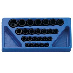 "Genius Tools IS-425M 25PC 1/2"" Dr. Metric Impact Socket Set"