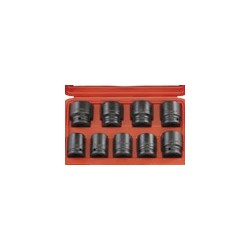 "Genius Tools IS-609M 9PC 3/4"" Dr. Metric impact socket set"
