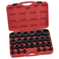 "Genius Tools IS-627S 27PC 3/4"" Dr. SAE Impact Socket Set"