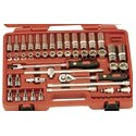 "Genius Tools EU-354M 54PC 3/8"" Dr. Metric Hand Socket & Hex Bit Socket Set"