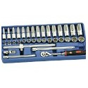 "Genius Tools EU-335M 35PC 3/8"" Dr. Metric Hand Socket & Hex Bit Socket Set"