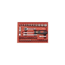 "Genius Tools EU-240M 40PC 1/4"" Dr. Metric Hand Socket Set"