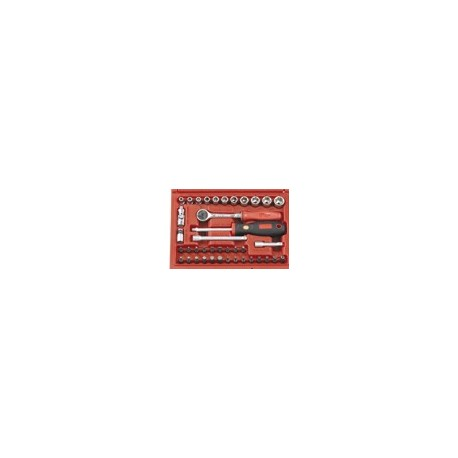 """Genius Tools EU-240M 40PC 1/4"""" Dr. Metric Hand Socket Set"""