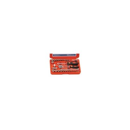 "Genius Tools EU-230MS 30PC 1/4"" Dr. Metric & SAE Hand Socket Set"