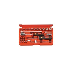 "Genius Tools EU-228M 28PC 1/4"" Dr. Metric Hand Socket Set"