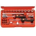 """Genius Tools EU-228M 28PC 1/4"""" Dr. Metric Hand Socket Set"""