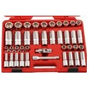 "Genius Tools DS-440M 40PC 1/2"" Dr. Metric Deep Hand Socket Set"