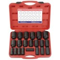 "Genius Tools DI-621M 21PC 3/4"" Dr. Metric Deep Impact Socket Set"