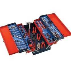 Genius Tools MS-142TS 142PC Metric Mechanics Tool Set with 5 Tier Portable Chest