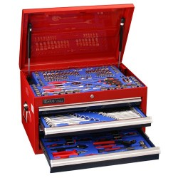 Genius Tools MS-215TA 215PC Metric & SAE Tool Set with 4 Drawers Top Chest