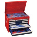Genius Tools MS-215TS 215PC Metric & SAE Tool Set with 10 Drawers Top Chest
