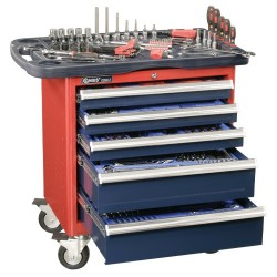 Genius Tools MS-236TS 236PC Metric Mechanics Tool Set with Roller cabinet