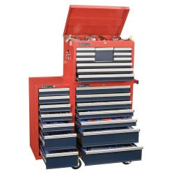 Genius Tools MS-548TS 548PC Metric & SAE Masters Tool Set with Tool Chests